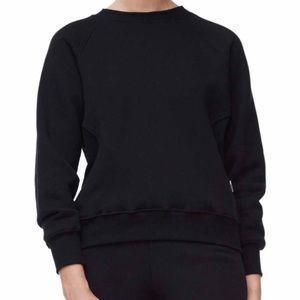 Good American Long Sleeve Crew-neck Sweatshirt